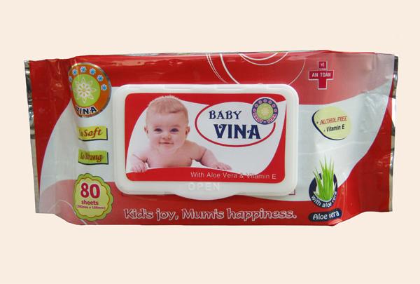 Khăn Giấy Ướt Baby VINA, Khan Giay Uot Baby VINA
